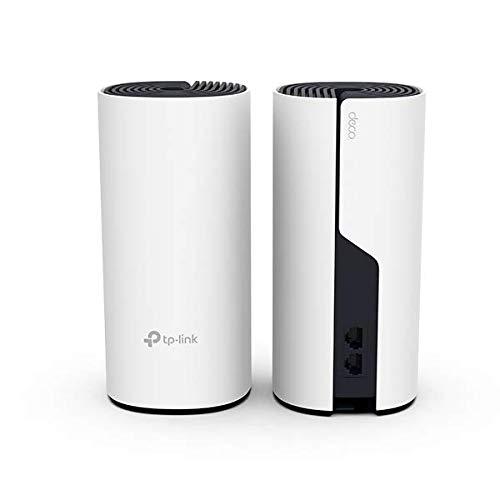 TP-Link Deco P9 (2-Pack) - Híbrido Wi-Fi de Malla para Todo el hogar con Powerline Backhaul, Ideal para Paredes Gruesas, Cobertura de hasta 370㎡, Compatible con Alexa, Controles parentales.