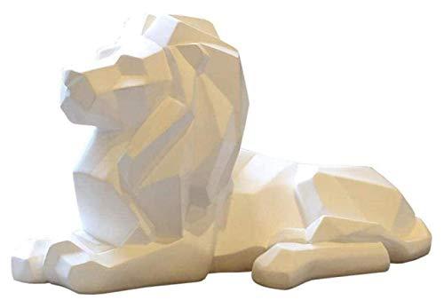 ZJSXIA Artículos Decorativos Estatuas de Animales Estatuillas de jardín Escultura Estatua Animal Lion Origami Colophonia Artesanía Escultura Creativa Ornamentos para el hogar Adornos Laton