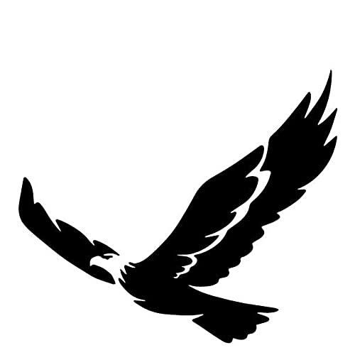 Wzjh 16.4cm X 14.1cm Eagle Flying Pattern Pegatinas de Coche Decoración de la decoración de la Vinilo de la decoración (Color Name : Black)
