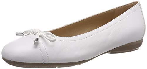 Geox Damen D ANNYTAH D Geschlossene Ballerinas, Weiß (White C1000), 36 EU