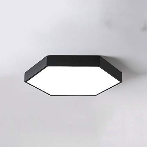 KAIKEA Nordische ultradünne einfache LED-Deckenleuchte, kreative Inneneinrichtung, dimmbare dreifarbige Dimmdeckenleuchten, verwendet für Balkon, Wohnzimmer, Schlafzimmerleuchte (weiß, schwarz)