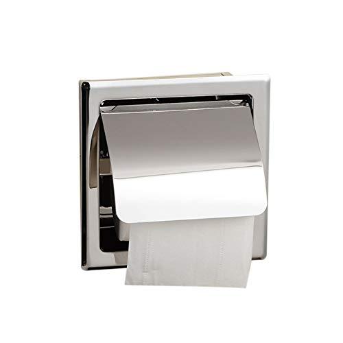Icegrape Toilettenpapierbox aus Edelstahl Wasserdicht Unterputz Wandmontierter Toilettenpapierhalter