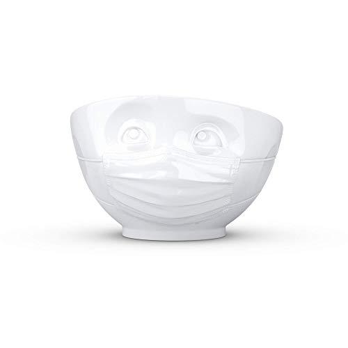 159 Schale Schüssel Zuversichtlich Müslischale Mundschutz Nasenschutz weiß, 500ml