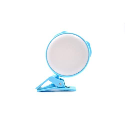 PPuujia Anillo de luz de anillo para selfie, luz de llenado en vivo, luz de anillo móvil, lámpara de maquillaje de escritorio led de aro de luz trípode selfie fotografía regulable (color azul)