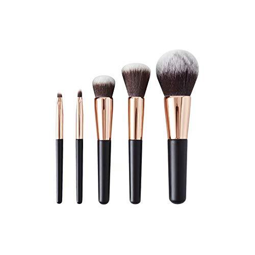 Pinceaux de Maquillage Professionnel mis 5 pièces Visage Fard à paupières Eyeliner Foundation Blush pinceaux à lèvres Outil