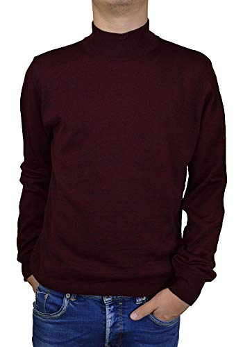 Iacobellis Men's Sweater Turtleneck Merino Wool Pullover Made in Italy