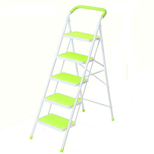 Leiter Haushalt Folding Herringbone Leiter verdicken Klettern Escalator DREI, Vier oder fünf Schritte Kleine Schritte Indoor Multifunktionale Treppen Stabilität und Sicherheit (Color : Blue)