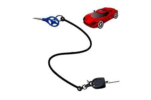 takestop® Schlüsselanhänger Seil Draht aus Silikon für Auto Block Shaft und ähnliche Diebstahlsicherung blockiert Spurstangenkopf