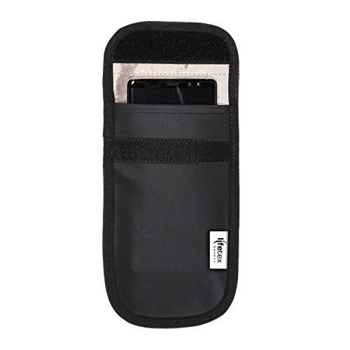 Signal Blocker Smartphonehülle (Handytasche) mit RFID, GPS, NFC Abschirmung - Anti Tracking - Anti Spion Tasche für Samsung, Huawei, iPhone, HTC, Kreditkarten