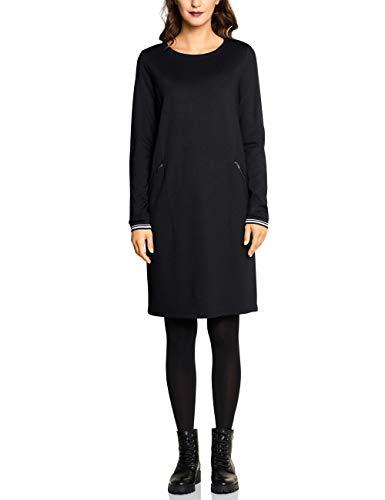 Street One Damen 142546 Kleid, Schwarz (Black 10001), (Herstellergröße:36)