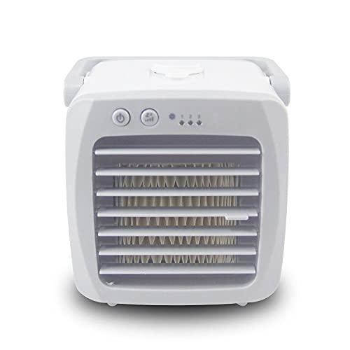 ZBQLKM Ventilador de aire acondicionado portátil, refrigerador de aire recargable USB con modo de 3 velocidades, diseño de manija portátil, diseño de llenado de apertura superior y agua, para hogar, o