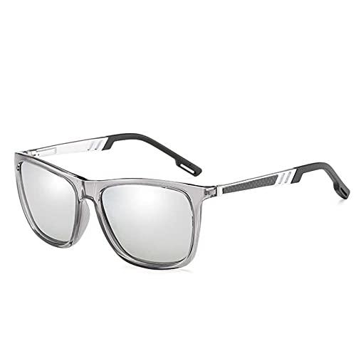 AMFG Gafas de sol polarizadas para hombres y mujeres Tendencia Colorida Piernas de primavera Moda Gafas de sol Viajes al aire libre (Color : G)