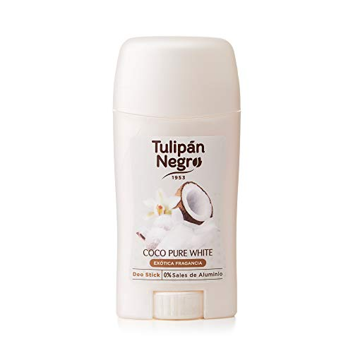 Tulipan Negro, Desodorante Stick Coco Pure White, 0% Sales de Aluminio, 50 ml