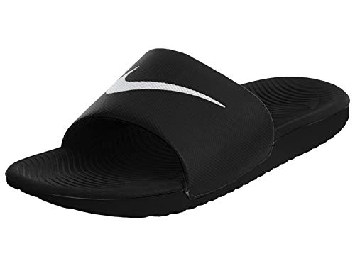 Nike Men's Kawa Slide Athletic Sandal, Black/White, 8 D(M) US