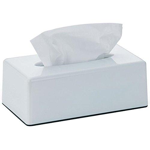 kela Kosmetiktuch-Box Panno aus Kunststoff in weiß, Plastik, 25.5 x 14 x 9 cm