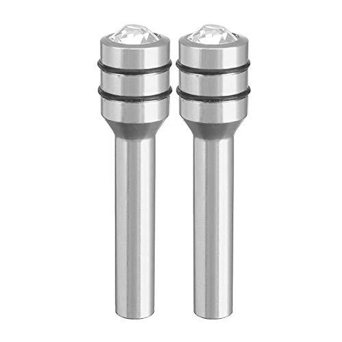Viviance 2Pcs Aluminum Diamond Stype Car Vehicle Auto Interior Door Lock Knob Pins Cover Universal - Das Silber