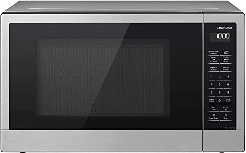 Compact Microwave Oven with 1200 Watts of Cooking Power, Sensor Cooking, Popcorn Button, Quick 30sec and Turbo Defrost - NN-SN67KS - 1.2 Cubic Foot (Stainless Steel/Silver)