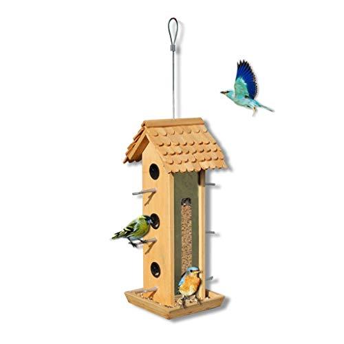 MSF Figurines Seed Bird Feeder Hanger Bird Feeding Station Bird Table Seed Feeder Wall Mounted Garden Ornament, for Garden Outdoor (Size : 150x190x390mm)