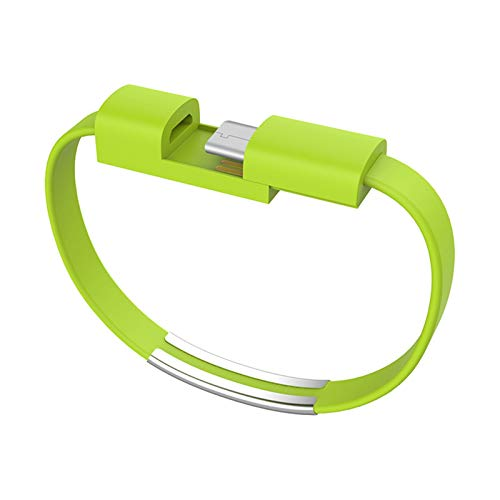 Bracelet Usb Charging Cable Data Cord Line Sync For Iphone Android Samsung S8 S9 S10 Huwei P30 C Type-c Short Usb Cabletype (green)