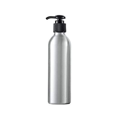 AchidistviQ Flacon de rangement rond en aluminium de 40 ml à 250 ml pour lotion, désinfectant, shampooing, noir, 250 ml