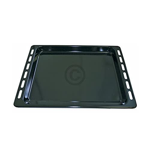 DL-pro Fettpfanne Backblech 447x375x33mm emailliert für Whirlpool Ignis Bauknecht 481010683239 Backofenblech Ofenblech für Backofen Ofen Herd