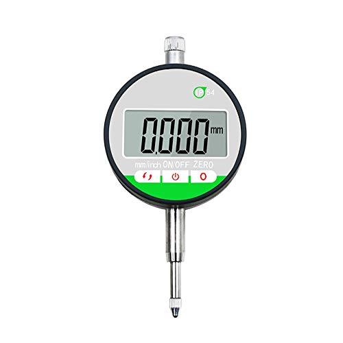 VCB IP54 Micrómetro Digital electrónico 0.001 mm / 0.01 mm Indicador medidor de indicador de Esfera - Plata-Negro (0.001 mm)