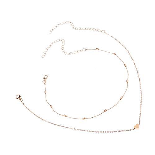 Xynhed Collier met gouden hartjes, choker voor vrouwen, choker, meerdere sierlijke colar femelle bijoux