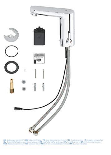 Grohe – Waschtisch-Sensorarmatur, Kalt- und Warmwasser, Batterieversorgung inkl., Funktionsmodi, Chrom - 7