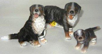 Schleich 16339 Berner Sennenhund stehend, 16316 Berner Sennenhund sitzend, 16344 Berner Sennenhund Welpe - Set