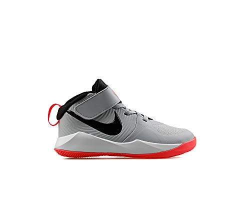 Nike Team Hustle D 9, Unisex-Kinder Basketballschuhe, Grau (Light Smoke Grey/Black-Laser Crimson) (Numeric_33_Point_5)