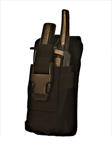 Clakit StrapPack Clip-On Pouch for Radio & GPS (Black) Backpack Attachment for Hunters, First Responders, Public Safety, Hikers and Travelers