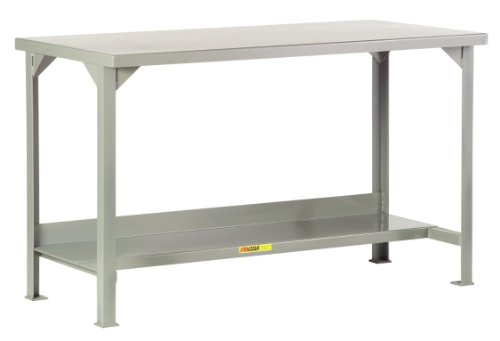 """Little Giant WST2-3672-36 Welded Steel Workbench with Lower Shelf, 4000 lbs Load Capacity, 36"""" Height x 72"""" Width x 36"""" Depth"""