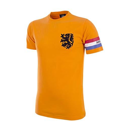 copa Herren Holland Captain T-Shirt mit Rundhalsausschnitt, Orange, M