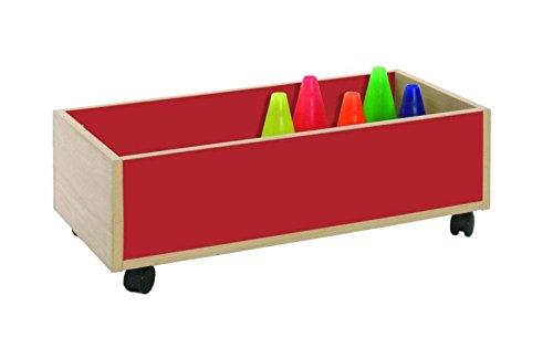 Mobeduc 600907HR10 Chariot élevé pour Les activités artistiques et Bois hêtre Cerise Rouge 80 x 40 x 27 cm