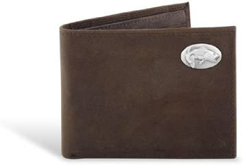 Bass - Leather Crazy Horse Brown Passcase Wallet