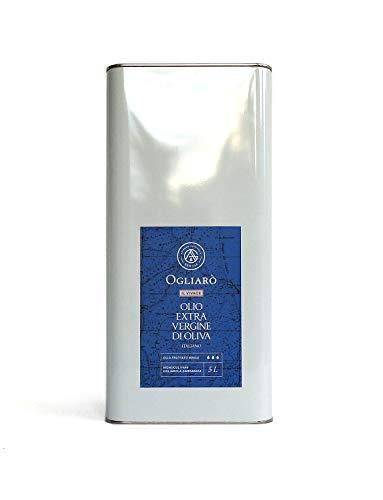 Olio extravergine di oliva italiano EVO Ogliarò Il Vivace 5 litri estratto a freddo monocultivar Ogliarola Garganica, certificato e garantito da analisi chimiche (Fruttato Medio, 5 Litri)