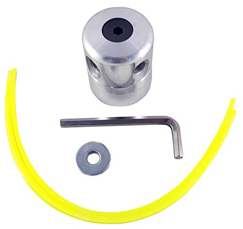 Riegolux 107681 Cabezal Aluminio 4 Hilos, hasta 4 mm
