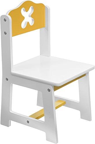 Bieco 79199201 - seggiolone bianco/giallo sede circa 26 x 26 cm