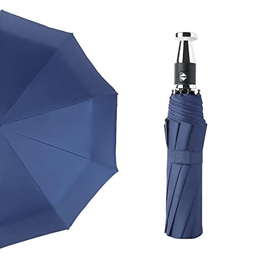 ShenMiDeTieChui Paraguas de Golf, Paraguas de Doble Mango Largo para Hombre, Paraguas de Protector Solar de Vinilo, Grande, Anti-Ultravioleta (Color : Blue)