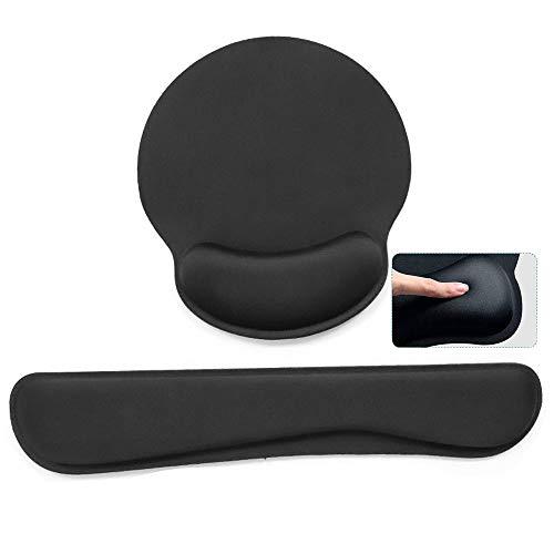 MRIMAYA Superfine Fibre Soft Smooth Gel Ergonomic Mouse Pad Wrist Support and Keyboard Wrist Rest for Computer