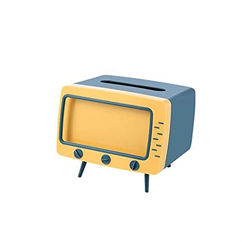 AiKoch TV Tejido Caja De Papel Esquema De Papel Dispensador Almacenamiento Servilleta Estuche Organizador Teléfono Móvil Practical (Color : Blue)