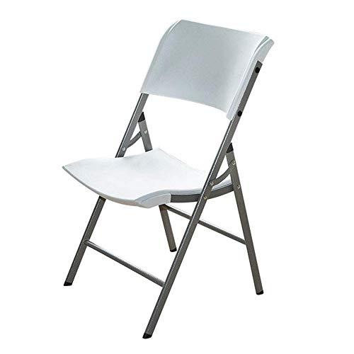 YINGGEXU Silla de comedor, silla de comedor, silla plegable de plástico, silla de conferencia, plegable, portátil, al aire libre, plegable, ligero (color: blanco, tamaño: 87 x 46 x 45 cm)