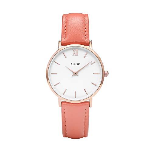 Cluse Damen Analog Quarz Uhr mit Leder Armband CL30045