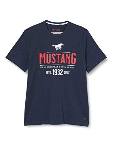 MUSTANG Herren Alex C Print T-Shirt, Blau (Dunkelblau 4085), X-Large (Herstellergröße: XL)