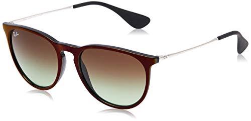 Ray-Ban Unisex-Erwachsene Sonnenbrille 4171, Braun (Black/Silver), 54