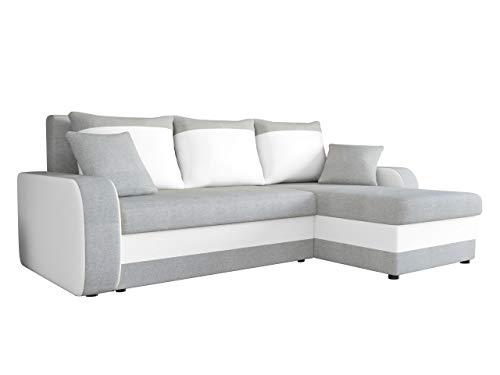 Ecksofa Kristofer Lux, Eckcouch Couch! mit Schlaffunktion, Zwei Bettkasten, Farbauswahl, Wohnlandschaft! Bettfunktion! Design L-Form Sofa! Seite Universal! (Bristol 2460 + Soft 017.)