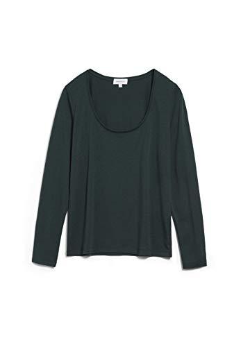 ARMEDANGELS Jamaal - Damen Longsleeve aus Tencel™ Lyocell Mix M Deep Lake Shirts Longsleeve Regular fit