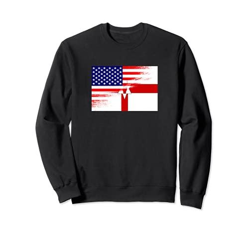 USA Ulster バナー 北アイルランド国旗 先祖 遺産 トレーナー