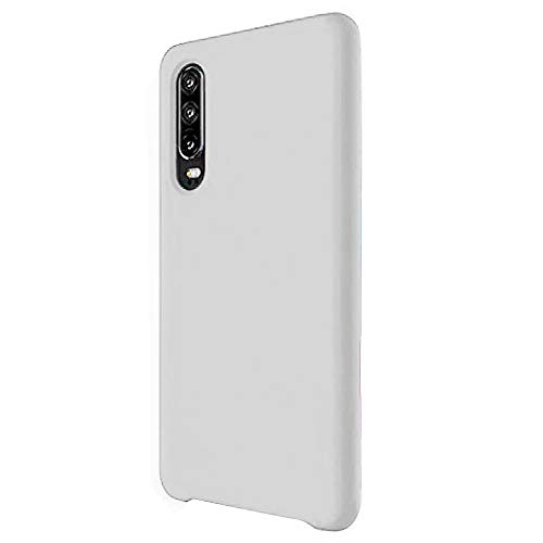 Funda para Huawei P30/P30 Pro Teléfono Móvil Silicona Liquida Bumper Case y Flexible Scratchproof Ultra Slim Anti-Rasguño Protectora Caso (White, Huawei P30)