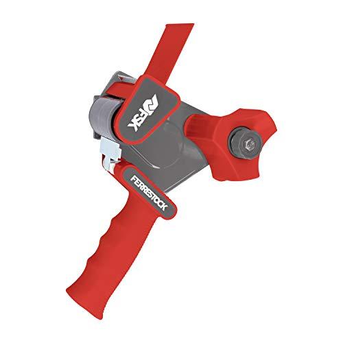 Ferrestock FSKTAD002RD Precintadora Manual Tipo Pistola Con Mango Ergonómico Para Empaquetado, Color Rojo